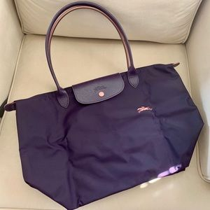 Longchamp Le Pliage club large tote in Bilberry